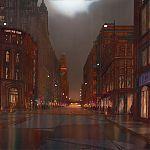 Oxford Street, Manchester. by Janet Kenyon