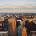 Sunset over Central Park. Original Watercolour