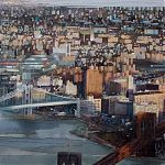 Connections. (Manhattan). Original Watercolour. by Janet Kenyon
