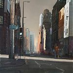 Urban light, Peter Street, Manchester. by Janet Kenyon