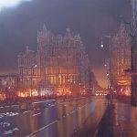 Painting by Janet Kenyon - Evening, North Bridge, Edinburgh