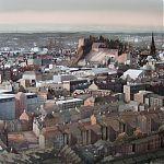 Looking towards Edinburgh Castle, from Salisbury Crags. Original Watercolour by Janet Kenyon