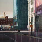 Evening light, Printworks, Manchester. painting by Janet Kenyon