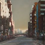 St Paul's and Blackfriars Bridge - painting by Janet Kenyon
