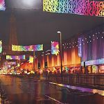 The Golden Mile, Blackpool - painting by Janet Kenyon