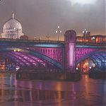 Southwark Bridge, London. Original Watercolour by Janet Kenyon