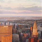 Distant horizons, New York. Orginal watercolour by Janet Kenyon